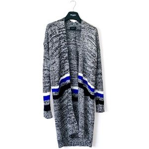 ROMEO+JULIET COUTURE • LONG STRIPED WRAP CARDIGAN